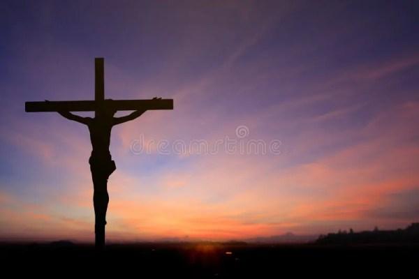 Jesus on Cross Background stock photo. Image of heaven ...