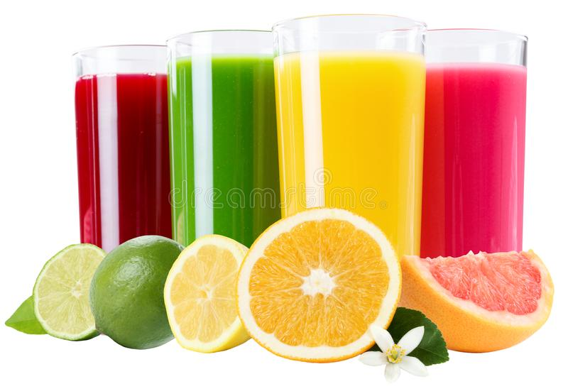Smoothie Fruit Juice Smoothies Drinks With Fruits In A Row Isola Stock Photo Image Of