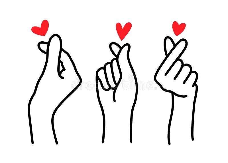 Download Cute finger sign of love stock illustration. Illustration ...