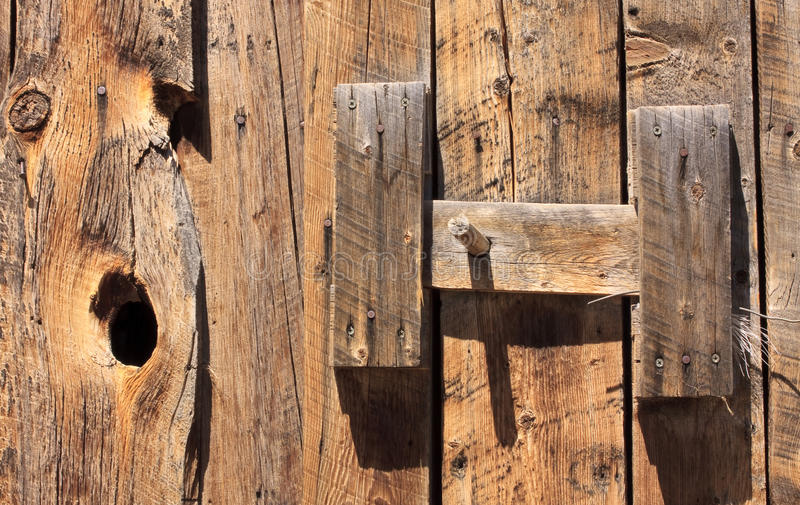 Latch On Old Barn Door Stock Image. Image Of America