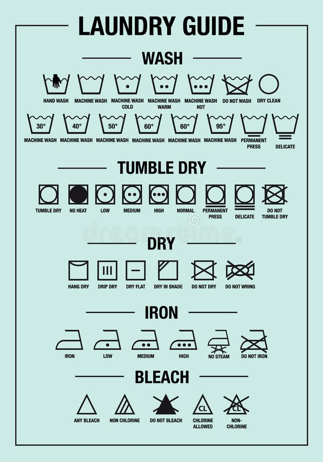 laundry guide stock illustrations 108