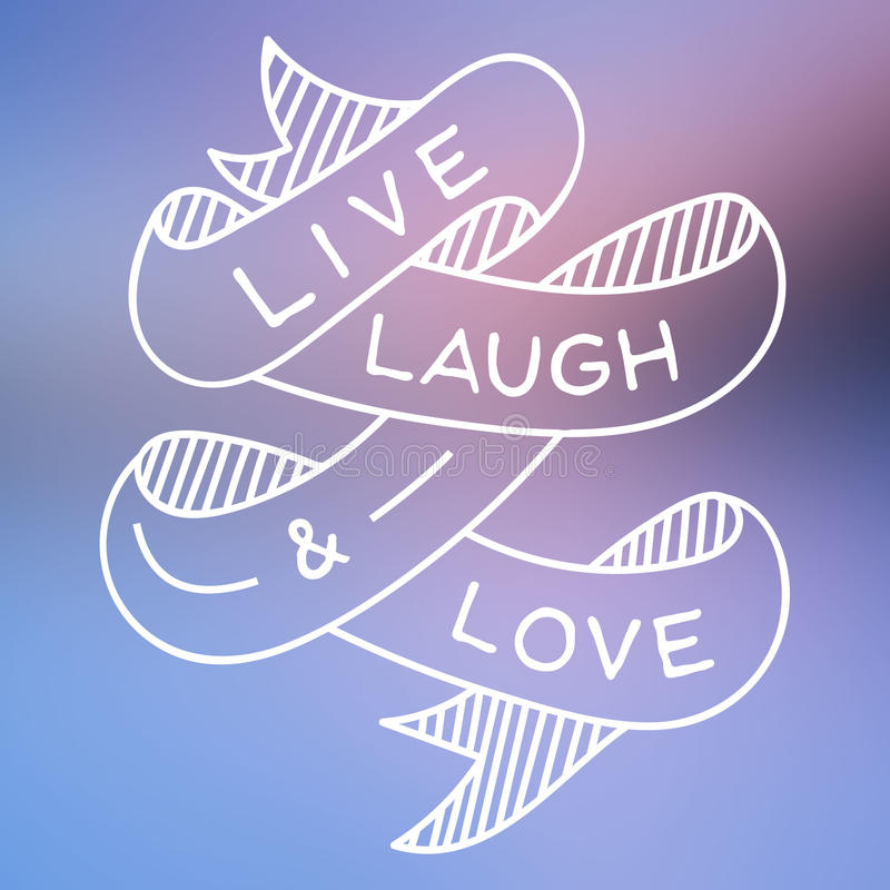 Download Live Laugh and Love stock illustration. Illustration of ...
