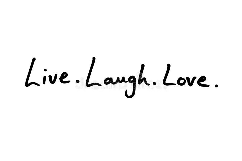 live laugh love stock illustrationen