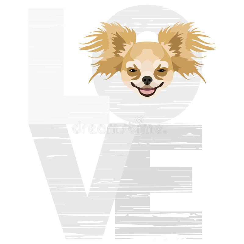 Download Love Chihuahua stock vector. Illustration of graphic ...