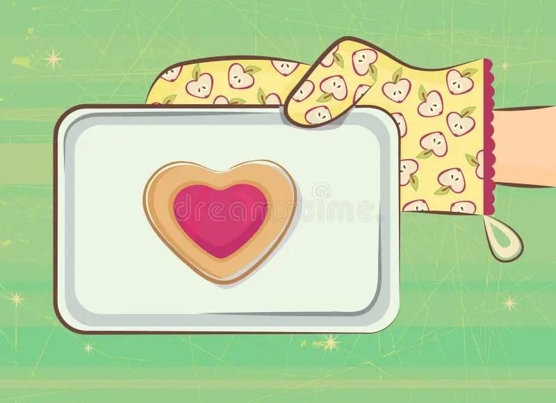 Download Love cookie stock vector. Illustration of dessert ...