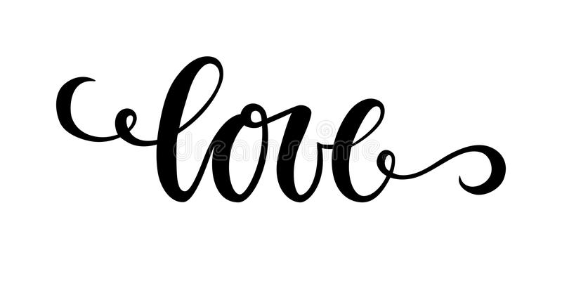 Download Love Hand Drawn Creative Calligraphy And Brush Pen ...