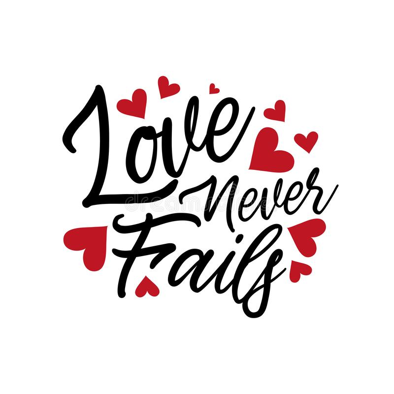Download Love Never Fails, Quote Text, With Heart ,hand Lettering ...