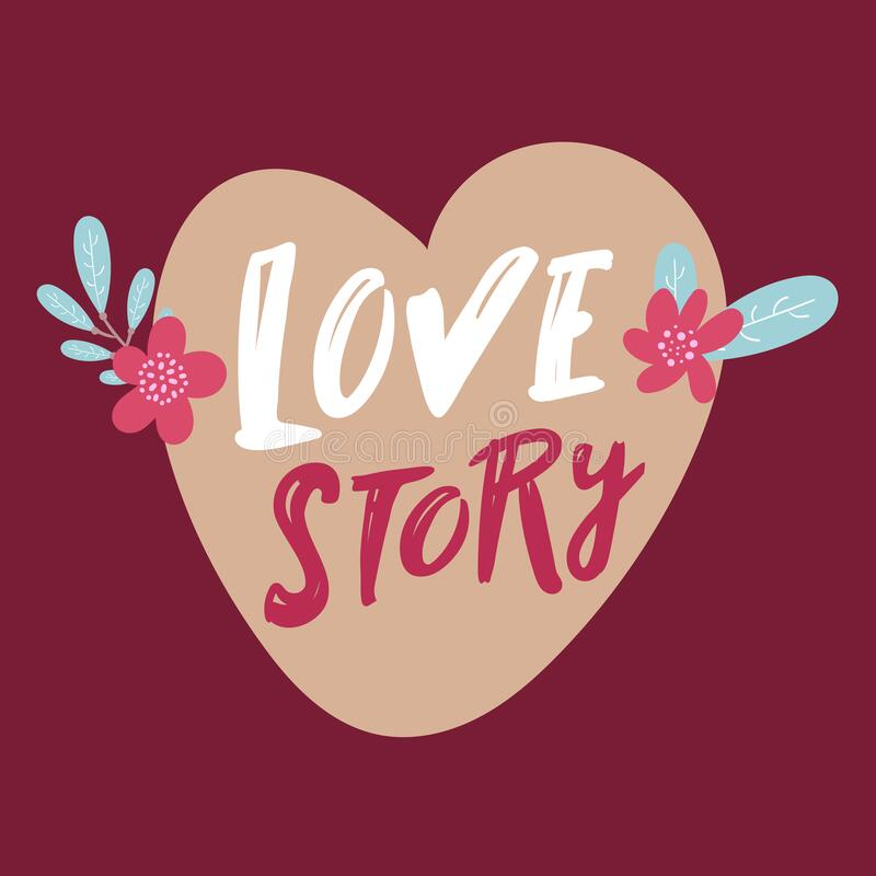 Download Love story card, vector stock vector. Illustration of ...