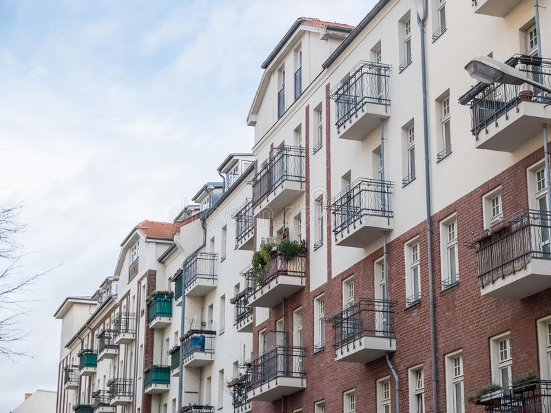 Low Rise Apartment Buildings With Balconies Stock Image
