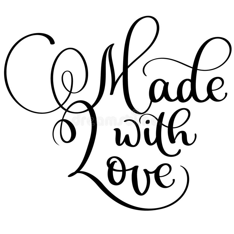 Download Made With Love Vector Vintage Text. Calligraphy Lettering ...