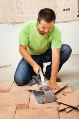 Man Cutting Ceramic Floor Tiles Stock Photo   Image of work     Download Man Cutting Ceramic Floor Tiles Stock Photo   Image of work   occupation  37977852