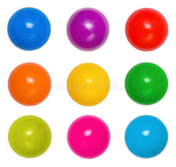 Many colour plastic balls stock image Image of ball