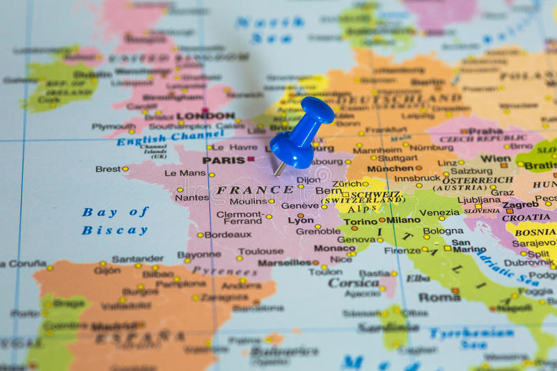 Map Of France With A Blue Pushpin Stuck Stock Image   Image of     Download Map Of France With A Blue Pushpin Stuck Stock Image   Image of  organize