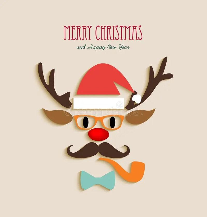 Merry Christmas Reindeer Cartoon Stock Vector Image
