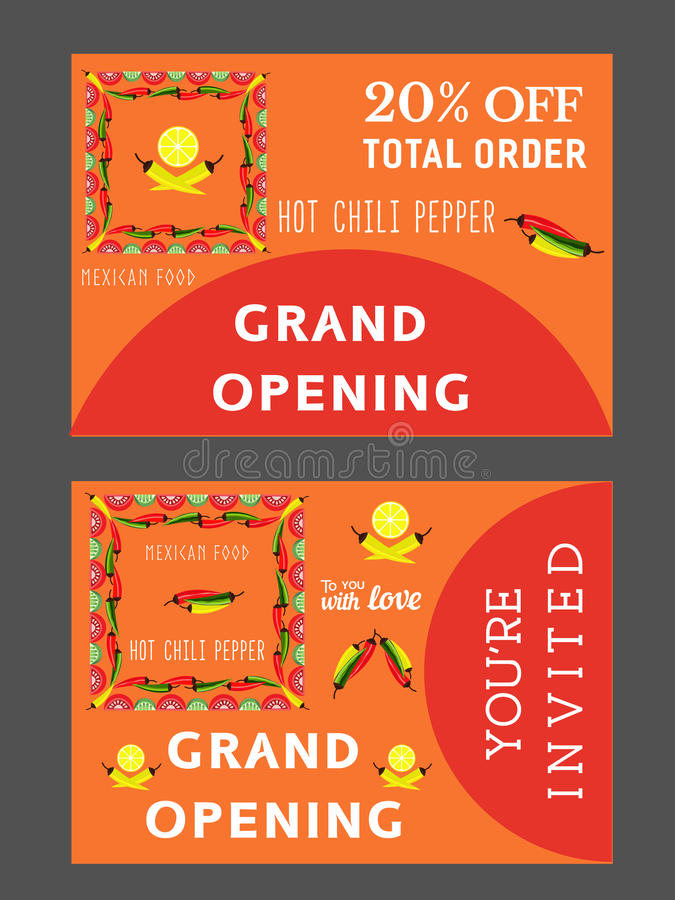 mexican restaurant template stock