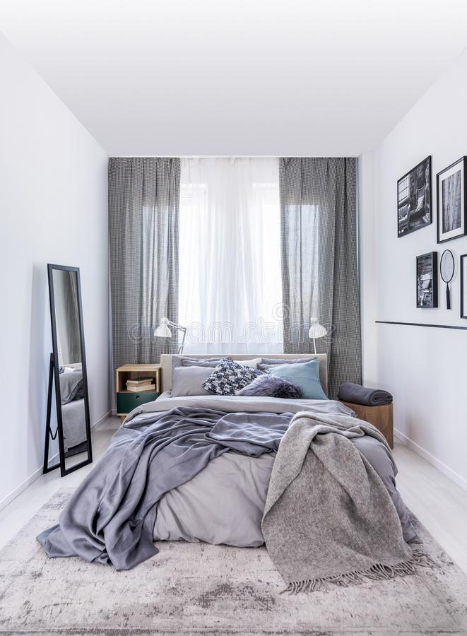 Mirror Bedroom Stock Photos - Download 9,770 Royalty Free ... on Mirrors Next To Bed  id=54005