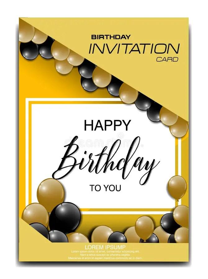 modern birthday invitation card with