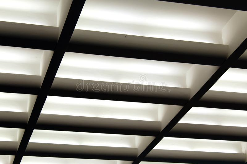 modern coffered ceiling seen in