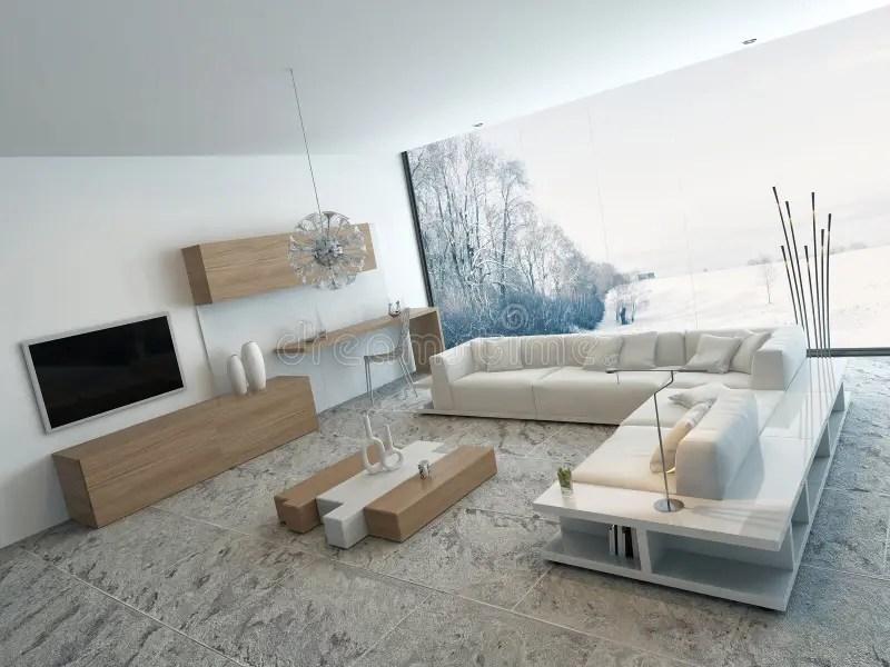 modernes weisses wohnzimmer mit