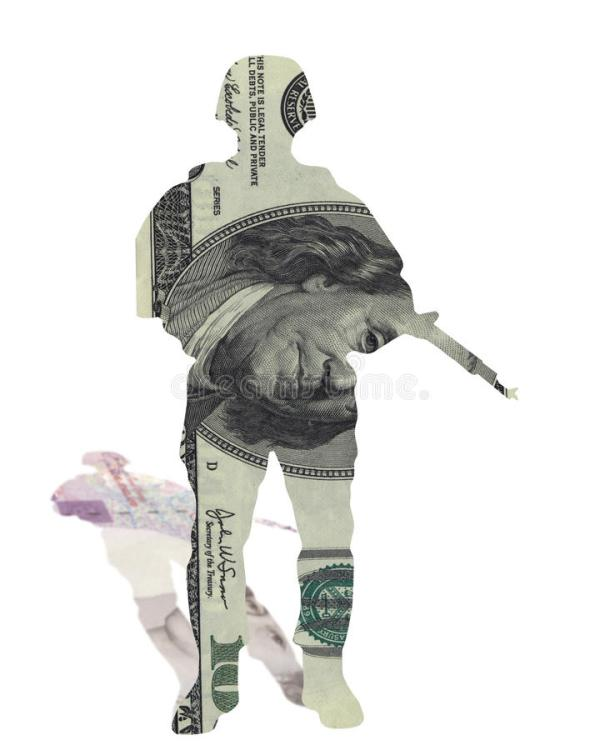 Money Soldier Currency Dollars Pound Sterling Stock Image ...