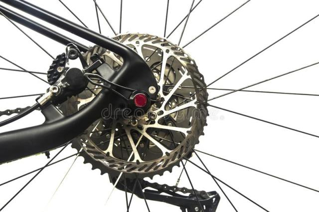 Closeup View Of Bicycle Front Wheel Of White Color Stock ...