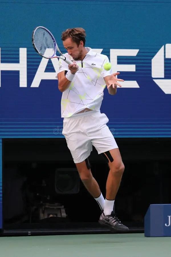Professional Tennis Player Daniil Medvedev Of Russia In ...