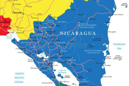 nicaragua map detailed » Full HD Pictures [4K Ultra] | Full Wallpapers