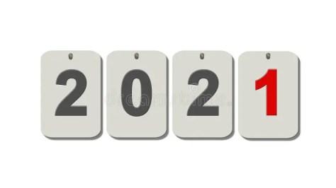 Nieuwe Jaar 2021 : Enkele Cijfers Op Plaatjes Geïsoleerd Op Een Witte  Achtergrond Stock Illustratie - Illustration of samenvatting, gelukkig:  188486336