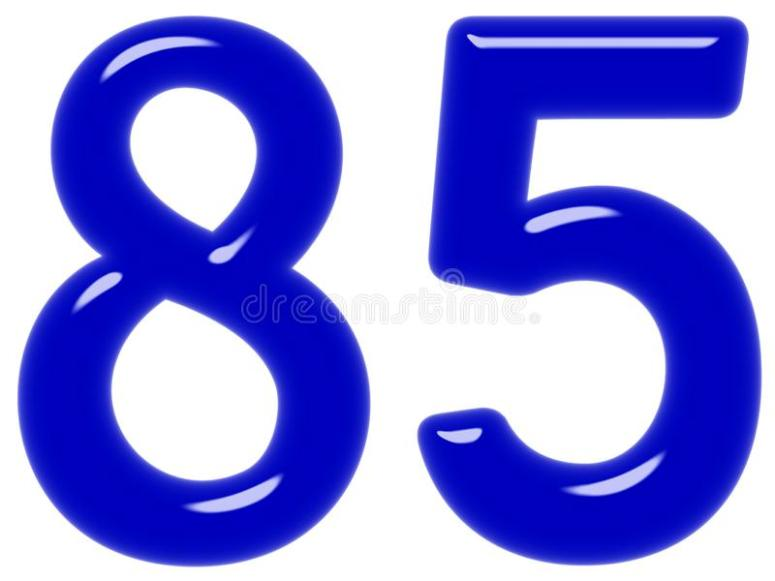 Numeral 85 Stock Illustrations – 73 Numeral 85 Stock Illustrations, Vectors  & Clipart - Dreamstime