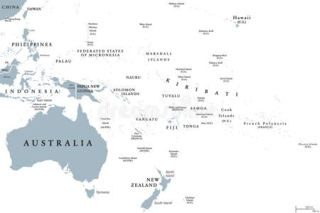 map of oceania countries » ..:: Edi Maps ::.. | Full HD Maps