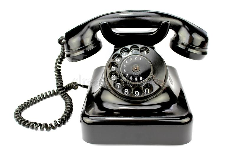 Old Rotary Phone Stock Photo. Image Of Ring, Black, Phone