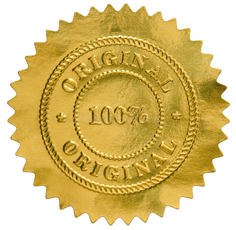 Gold Psychic Approvel Stamp