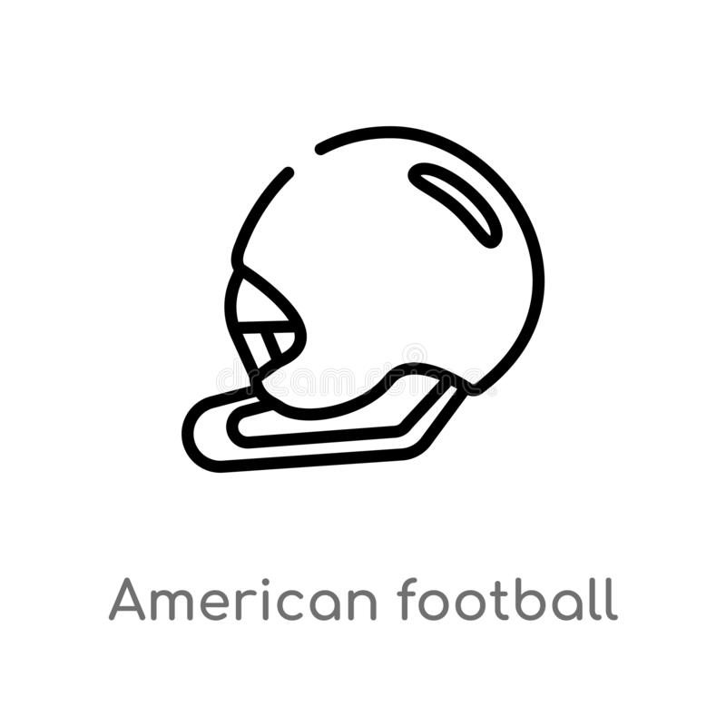 Outline American Football Helmet Vector Icon Isolated Black Simple Line Element Illustration From American Football Concept Stock Vector Illustration Of Logotype Isolated 144269561