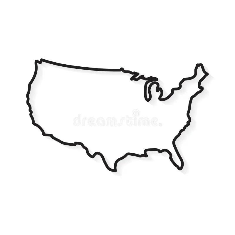 North carolina us state powerpoint map by slidemodel.com alabama state outline. Outline United States Map Stock Vector Illustration Of Border 154594581