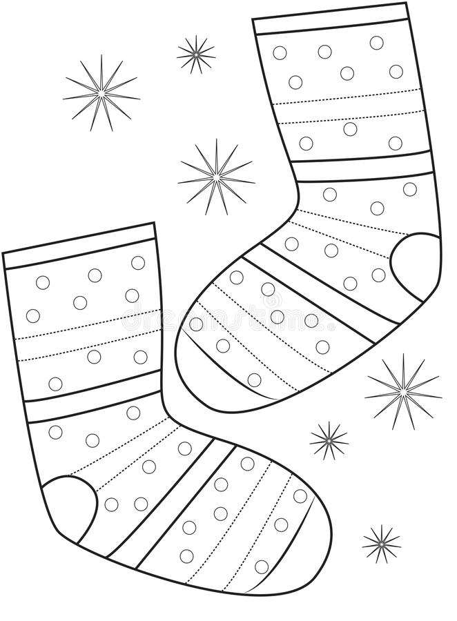 pair of socks coloring page stock illustration  image