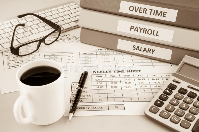 Payroll Time Sheet For Human Resources  Sepia Tone Stock Photo     Download Payroll Time Sheet For Human Resources  Sepia Tone Stock Photo    Image of data
