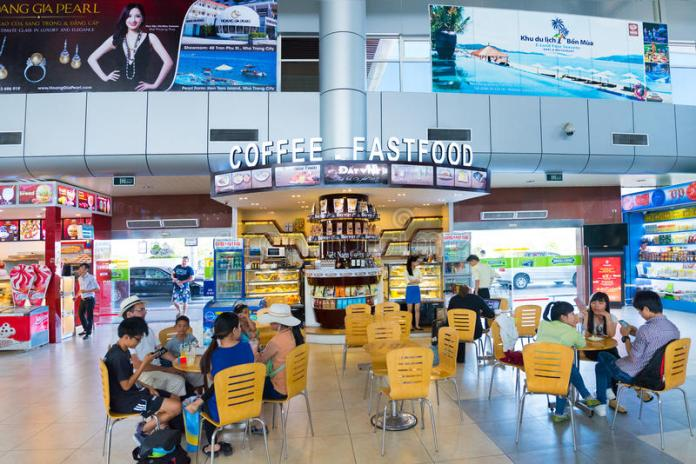 People At Fastfood Restaurant At Cam Ranh International Airport ...