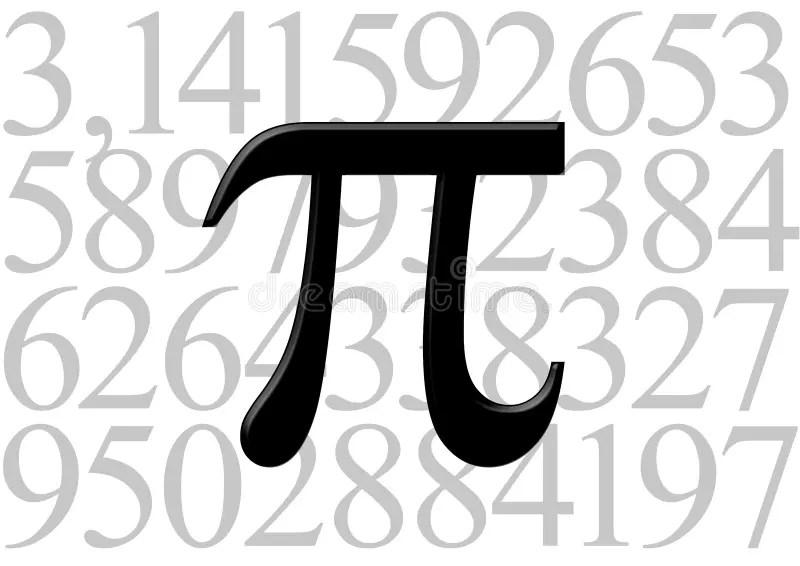 Pi Letter On Number Value Stock Illustration Illustration