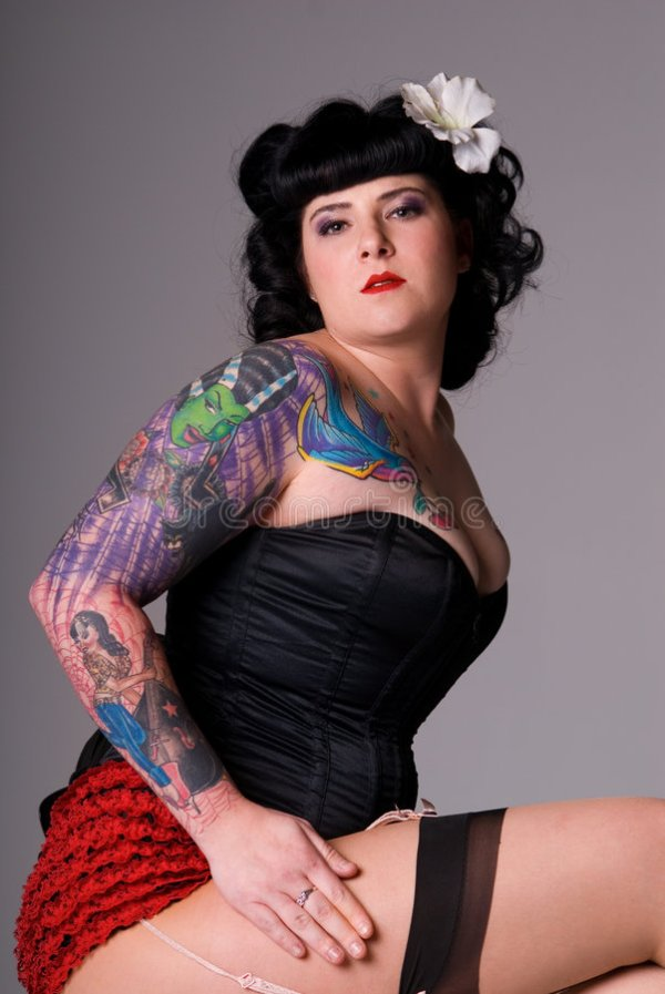 Pin-up girl. stock image. Image of girls, lifestyle, curve ...