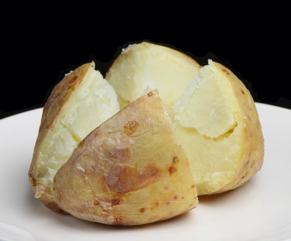 Plain Baked Potato stock image. Image of meal, baked ...