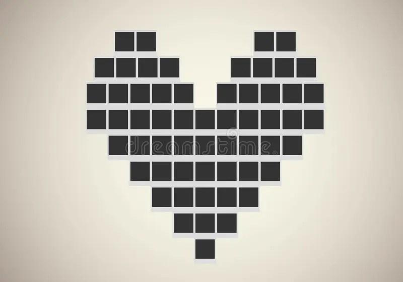 tres polaroid photo frame in heart shape stock vector image 73024733 jo72