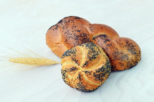 Poppy seed roll bread stock photo Image of baked