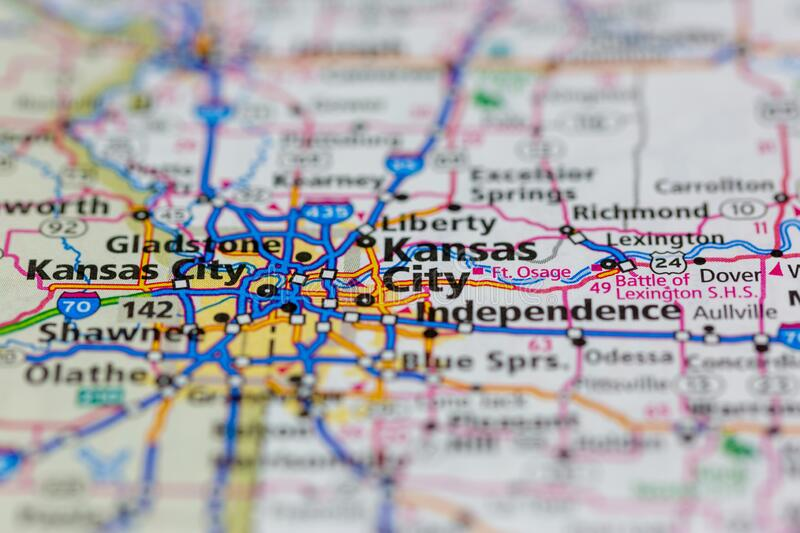 Kansas city, missouri (informally abbreviated kc) is the largest city in the u.s. Kansas City Road Map Photos Free Royalty Free Stock Photos From Dreamstime