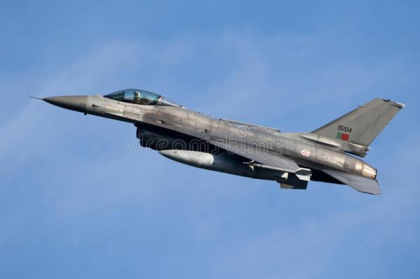Portugal Air Force F-16 Fighter Jet Aircraft Stock Image ...