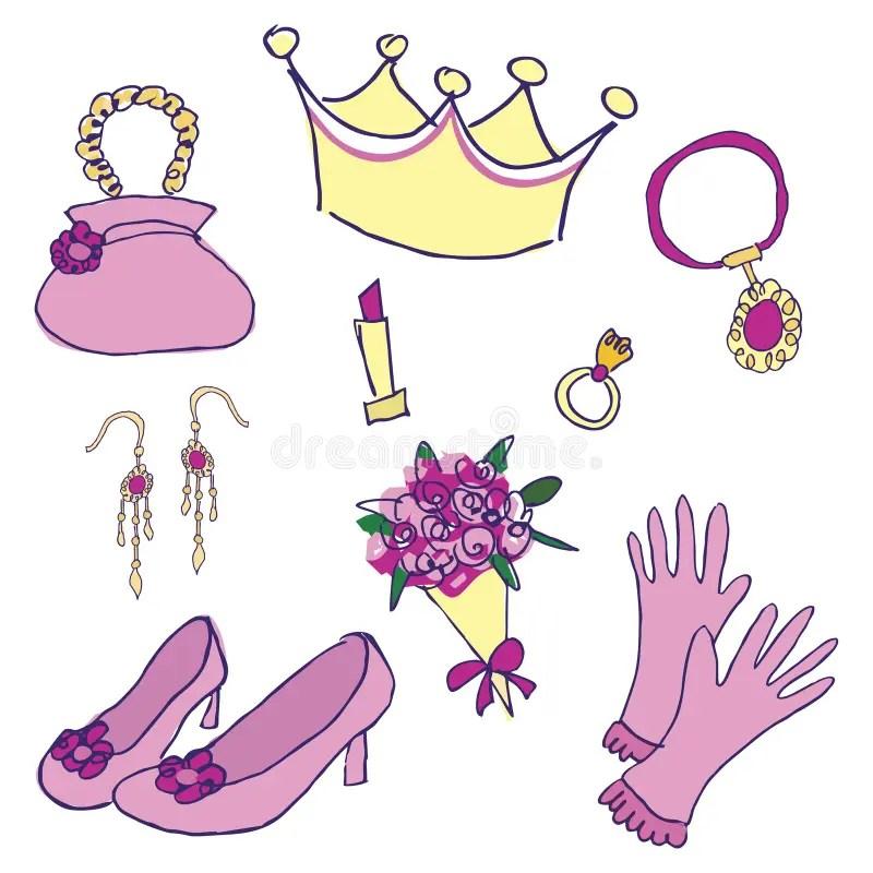 Princess Accessories Stock Vector Illustration Of Bride