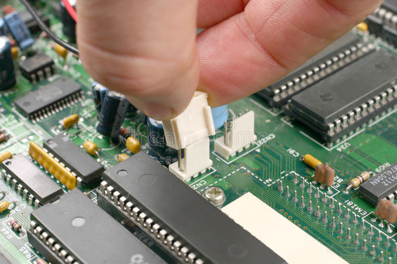 Printed Circuit Board And Electronic Scheme Stock Image