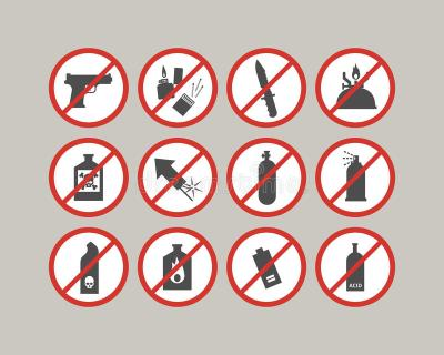 Some items may be unsafe to bring on-campus
