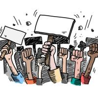 Noida students protest against fake admissions