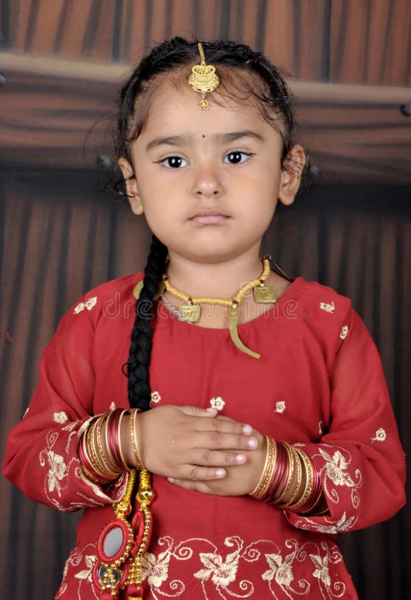 Punjabi little child stock photo. Image of jewelry, cute ...