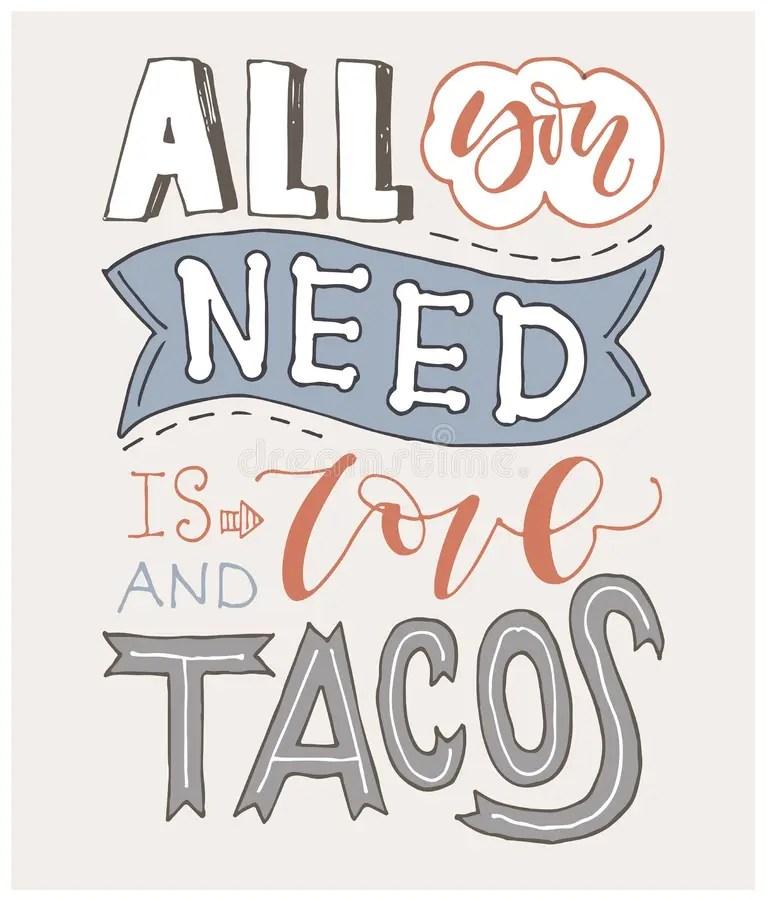 Download I love tacos stock vector. Illustration of card, lettering ...